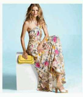 Lanvin for H and M, floral, maxi dress, giselle,