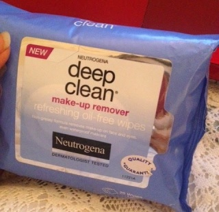 Neutrogena, facial wipes, make-up remover, oil-free, deep clean