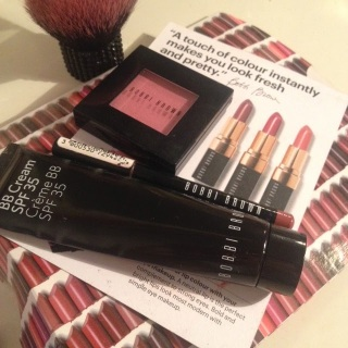 Bobbi Brown BB Cream, Bobbi brown lip liner, and Bobbi Brown blush, foundation stick
